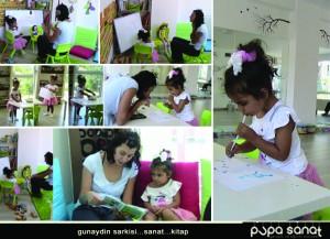 Çocuklara sanat atölyeleri