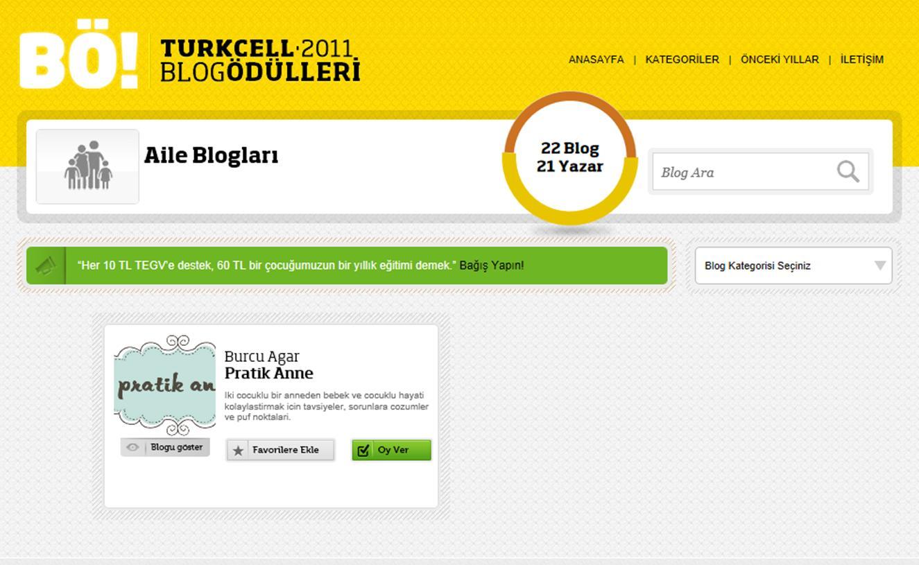 PratikAnne.com Blog Ödülleri'nde oylarınızı bekliyor