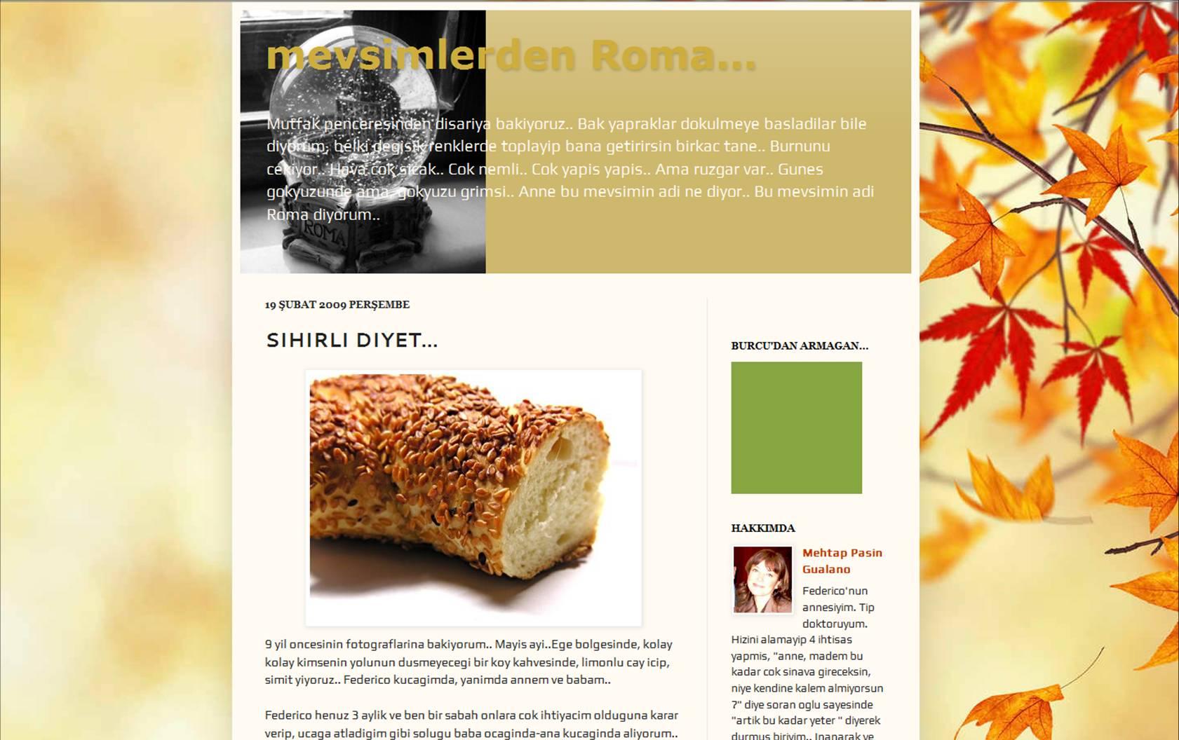 Mevsimlerden Roma ile sağlıklı beslenme