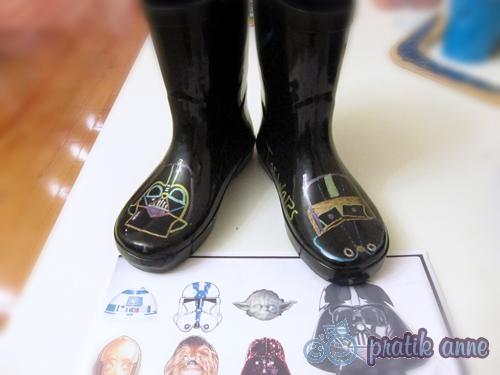 Özel tasarım Star Wars yağmur botları