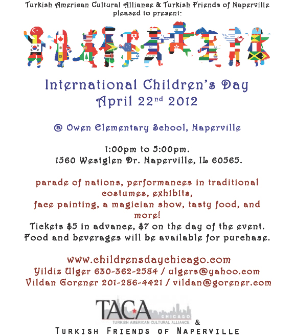 Şikago'da Uluslararası Çocuk Şenliği - 22 Nisan, Pazar
