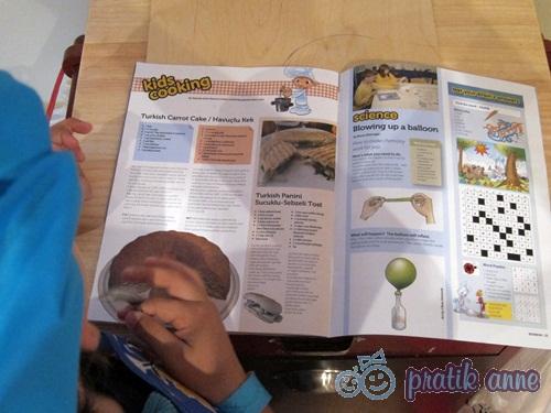 Bonbon Magazin ile çocuklardan havuçlu kek