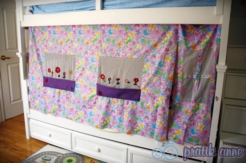 Çocuklar için dekoratif ranza perdeleri