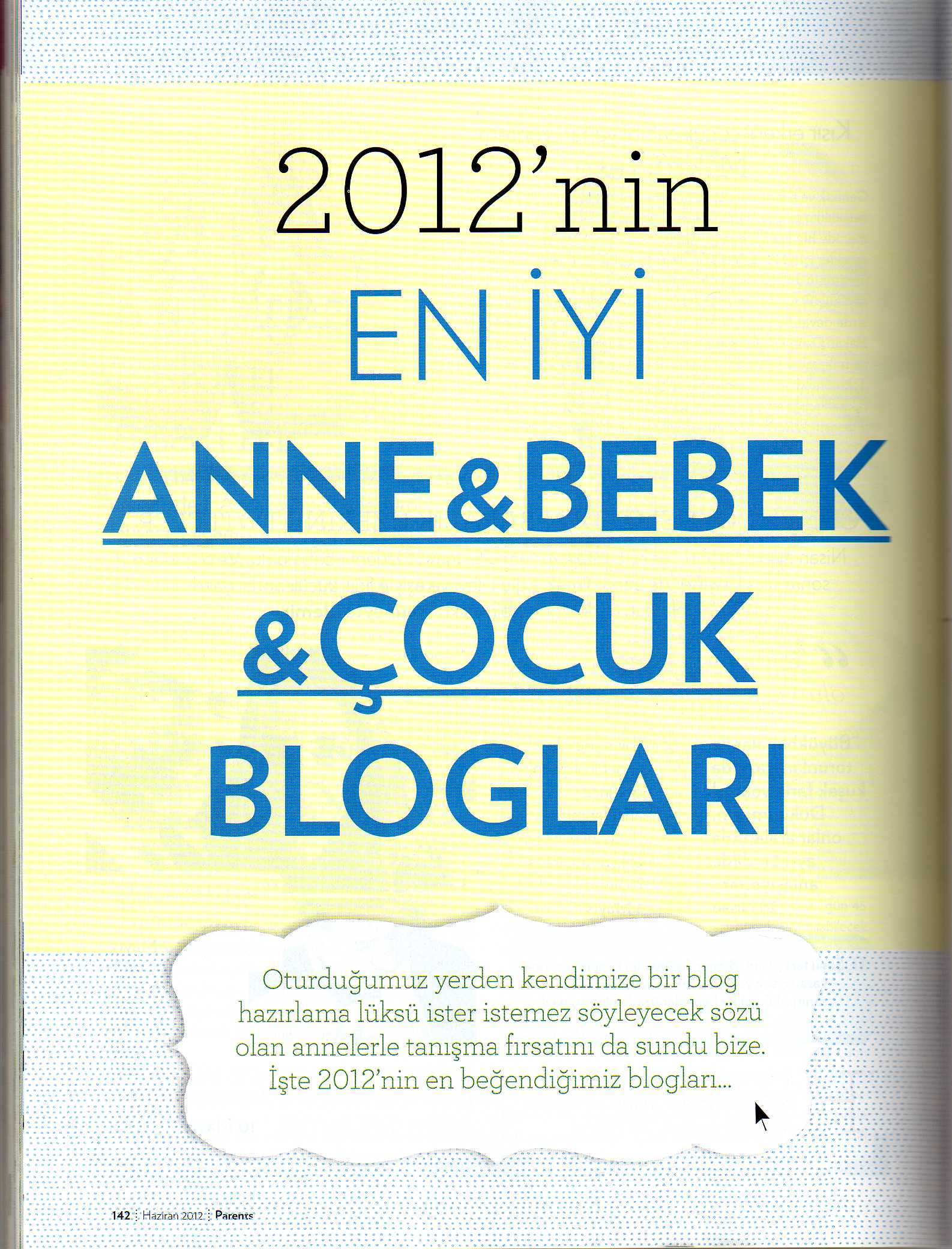 "Parents Dergisinde ""En Pratik Blog"""