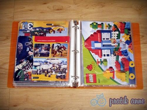 LEGO kitapçıklarını düzenleme